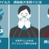 新型コロナウイルスの感染拡大防止に関する大切なお知らせ!